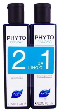 Phyto Cedrat шампунь 250 мл +  Panama шампунь 250 мл 1 набір