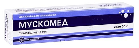 Мускомед крем 2,5 мг/г 30 г 1 туба