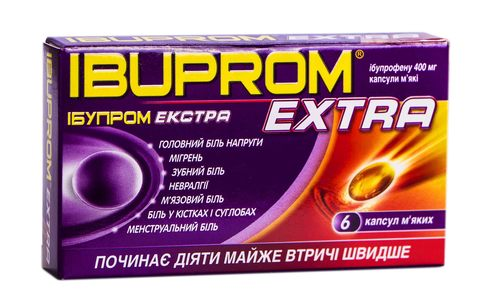 Ібупром Екстра капсули 400 мг 6 шт