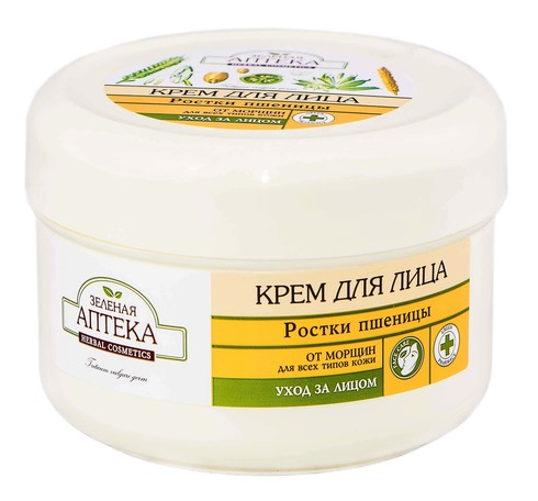 Зелена Аптека Крем для обличчя паростки пшениці 200 мл 1 банка