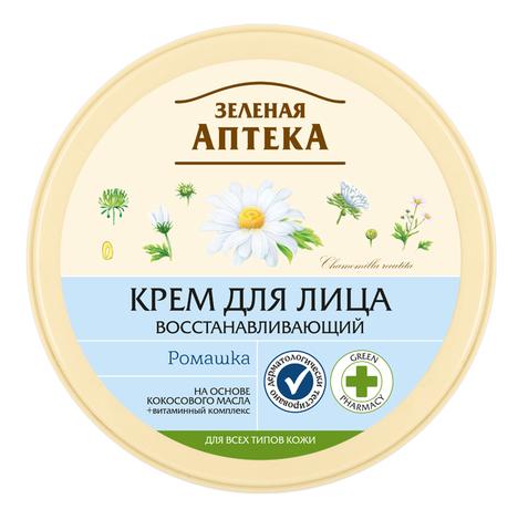 Зелена Аптека Крем для обличчя відновлюючий з ромашкою 200 мл 1 банка