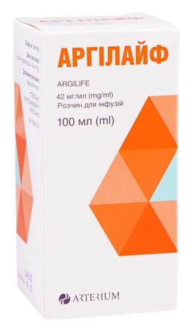 Аргілайф розчин для інфузій 42 мг/мл 100 мл 1 флакон