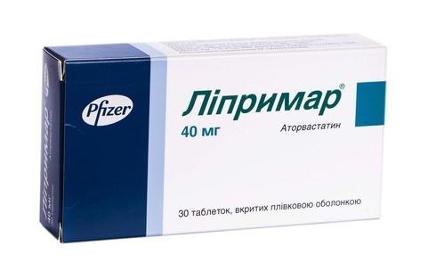 Ліпримар таблетки 40 мг 30 шт