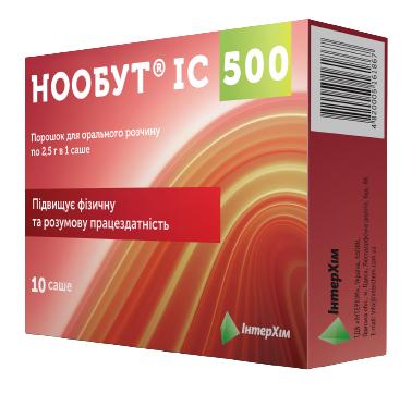 Нообут ІС 500 порошок для орального розчину 500 мг/дозу 10 саше