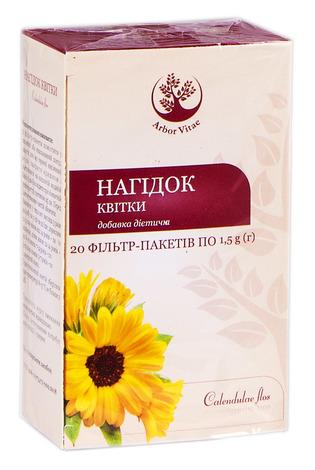 Arbor Vitae Нагідок квітки 1,5 г 20 фільтр-пакетів
