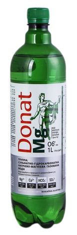 Donat Mg Вода мінеральна питна лікувальна сильногазована 1 л 1 пляшка