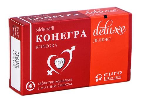 Конегра Делюкс таблетки жувальні 100 мг 4 шт