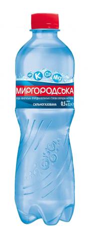 Миргородська Вода лікувально-столова сильногазована 0,5 л 1 пляшка