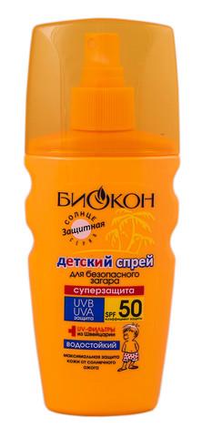 Біокон Спрей для безпечної засмаги для дітей суперзахист SPF-50 160 мл 1 флакон