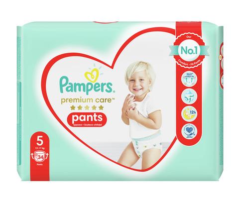 Pampers Premium Care 5 Трусики-підгузки дитячі 12-17 кг 34 шт