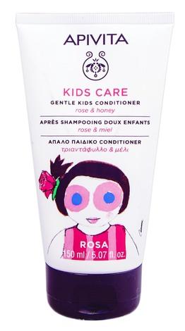 Apivita Kids Care Кондиціонер м'який дитячий з трояндою та медом 150 мл 1 туба