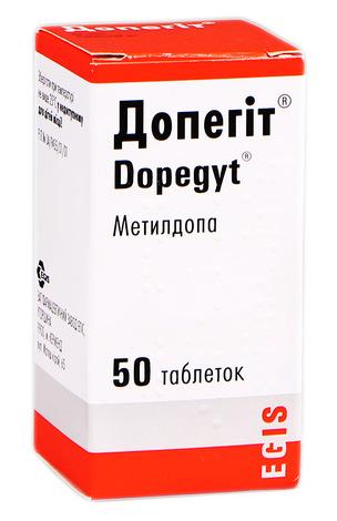 Допегіт таблетки 250 мг 50 шт