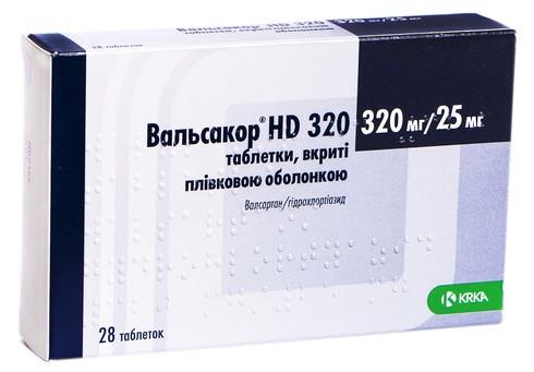 Вальсакор HD таблетки 320 мг/25 мг  28 шт