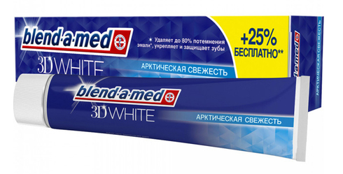 Blend-a-med 3D White Зубна паста Арктична свіжість 125 мл 1 туба