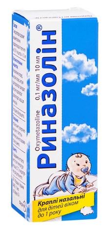 Риназолін краплі назальні 0,1 мг/мл 10 мл 1 флакон