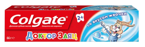 Colgate Зубна паста дитяча Лікар Заєць зі смаком жувальної гумки 2+ 50 мл 1 туба