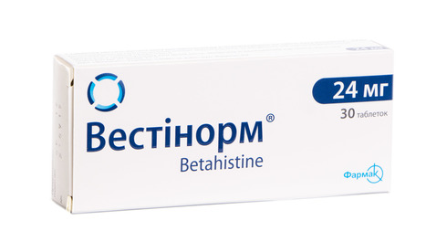 Вестінорм таблетки 24 мг 30 шт