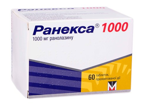 Ранекса 1000 таблетки 1000 мг 60 шт