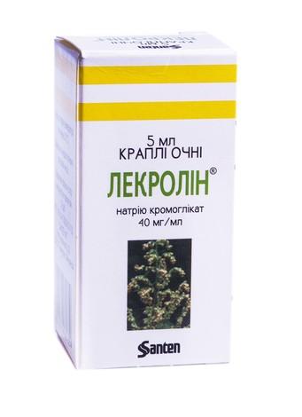 Лекролін краплі очні 40 мг/мл 5 мл 1 флакон