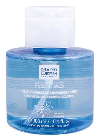 MartiDerm Essentials Розчин міцелярний очищувальний 3-в-1 для всіх типів шкіри 300 мл 1 флакон