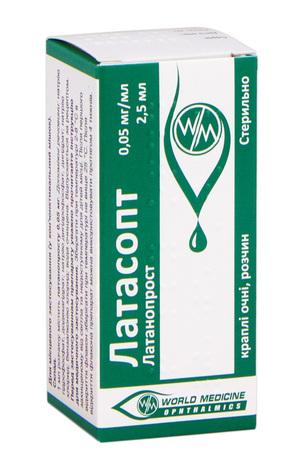 Латасопт краплі очні 0,05 мг/мл 2,5 мл 1 флакон