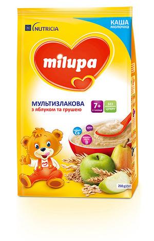 Milupa Каша молочна мультизлакова з яблуком та грушею з 7 місяців 210 г 1 пакет