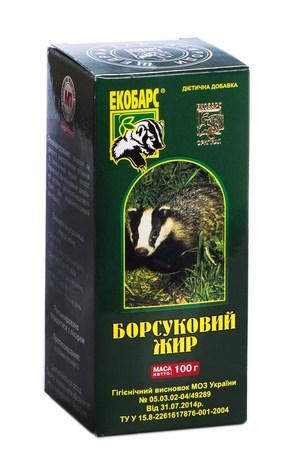 Екобарс Борсуковий жир розчин оральний 100 мл 1 флакон