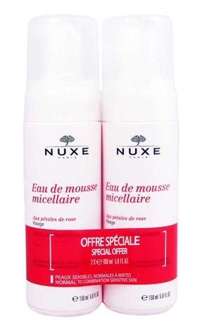 Nuxe Мус міцелярний з екстрактом трьох троянд Дуо 2х150 мл 1 набір