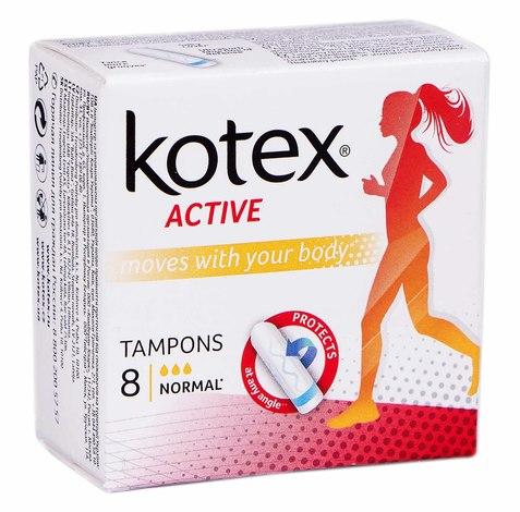 Kotex Active Нормал Тампони 8 шт