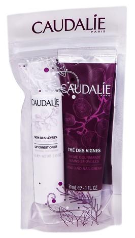 Caudalie The des Vignes крем для рук 30 г + кондиціонер для губ 4,5 г 1 набір