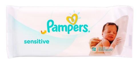 Pampers Sensitive Серветки вологі дитячі 12 шт