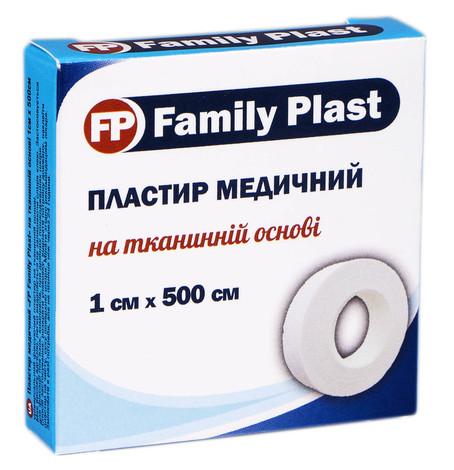 Family Plast Пластир медичний на тканинній основі 1х500 см 1 шт