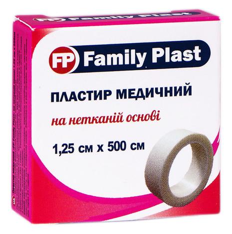 Family Plast Пластир медичний на нетканій основі 1,25х500 см 1 шт