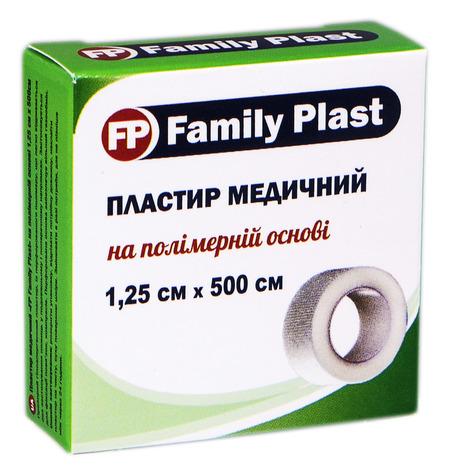 Family Plast Пластир медичний на полімерній основі 1,25х500 см 1 шт
