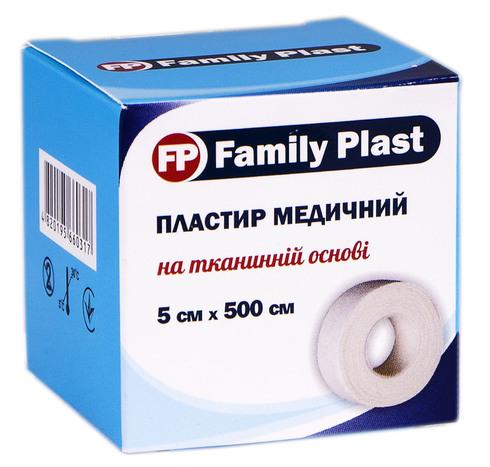 Family Plast Пластир медичний на тканинній основі 5х500 см 1 шт