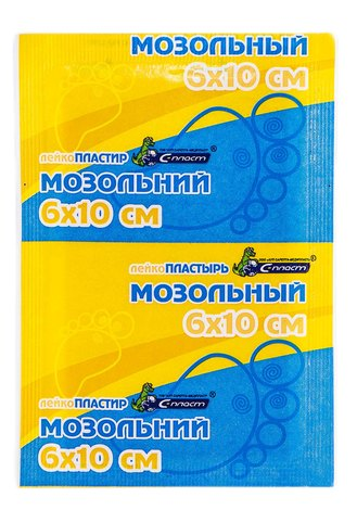 С-Пласт Лейкопластир мозольний 6х10 см 1 шт