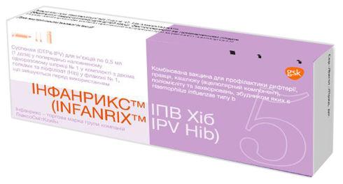 Інфанрикс ІПВ Хіб суспензія для ін'єкцій 1 доза 0,5 мл 1 шприц