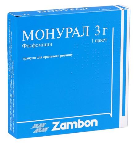 Монурал гранули для орального розчину 3 г 1 пакет