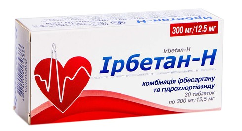Ірбетан-Н таблетки 300 мг/12,5 мг  30 шт