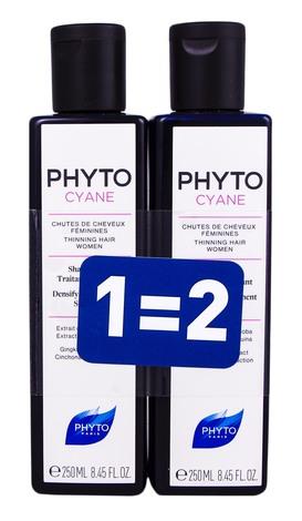 Phyto Cyane Шампунь лікувальний проти випадіння волосся у жінок Дуо 2х250 мл 1 набір