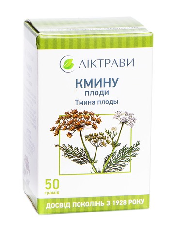 Ліктрави Кмину плоди 50 г 1 пачка