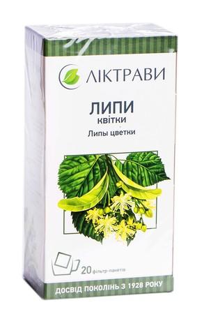 Липи квітки Ліктрави 1,5 г 20 фільтр-пакетів