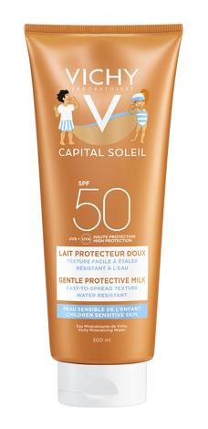 Vichy Capital Soleil Сонцезахисне молочко м'яке дитяче для обличчя і тіла SPF-50 300 мл 1 туба