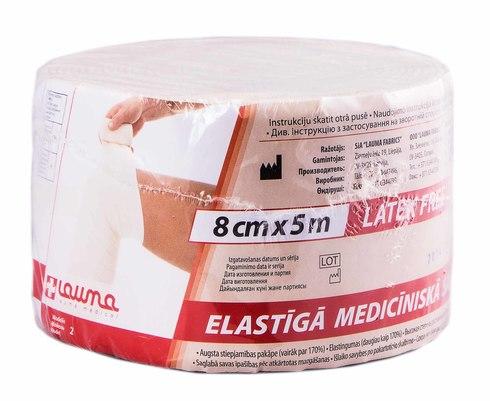 Lauma Бинт медичний еластичний 8 см х 5 м 1 шт