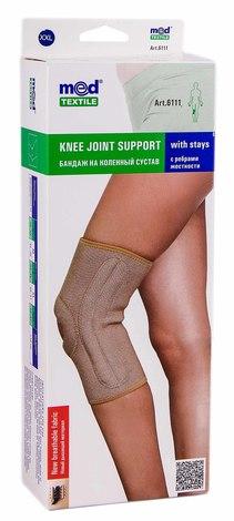 MedTextile 6111 Бандаж на колінний суглоб з ребрами жорсткості розмір XXL 1 шт