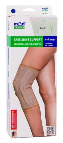 MedTextile 6111 Бандаж на колінний суглоб з ребрами жорсткості розмір L 1 шт