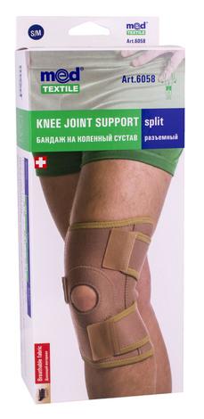 MedTextile 6058 Бандаж на колінний суглоб роз'ємний розмір S/M 1 шт