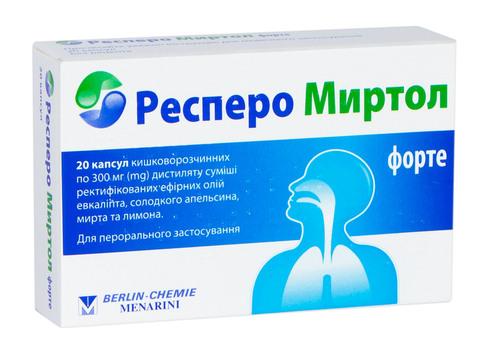 Респеро Миртол Форте капсули 300 мг 20 шт