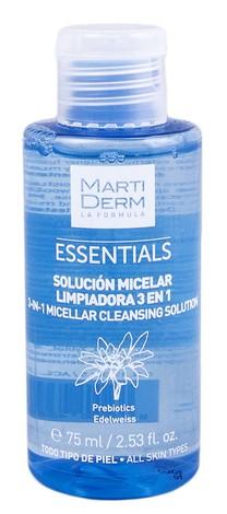 MartiDerm Essentials Розчин міцелярний очищувальний 3-в-1 для всіх типів шкіри 75 мл 1 флакон