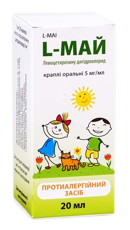 L-Май краплі оральні 5 мг/мл 20 мл 1 флакон